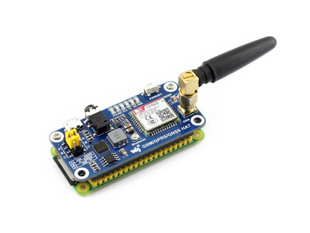 Faible puissance SIM868 GSM GPRS GNSS Bluetooth 3.0 chapeau pour framboise Pi 2B/3B/zéro/zéro W soutien SMS appel téléphonique CP2102 UART débogage - 5
