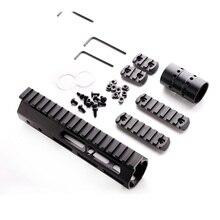 Ar15 m4 m16 mlok tático 7 polegada uma peça livre float rifle handguard picatinny ferroviário suporte de montagem