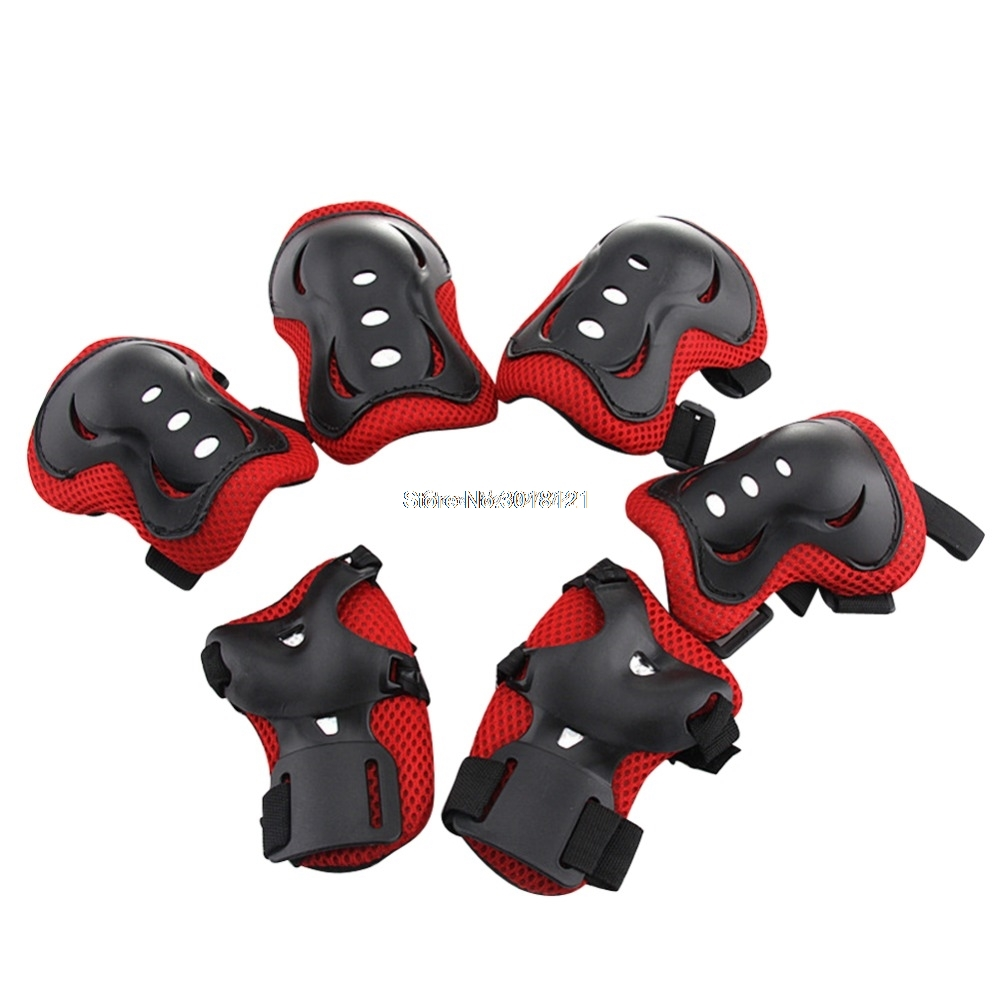 Kids Safe Cycling Roller Skating Knee Elbow Wrist Guard Protective Pad 4 Colors