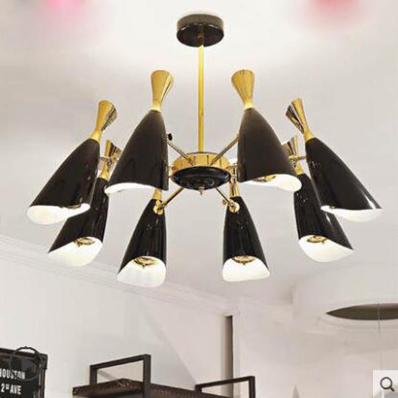 Postmodern nordique salon lustre personnalité créative Designer lustre Restaurant chambre lustre mode Art lampe