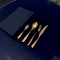 Stainless Steel Dinnerware Set Rose Gold Dinnerware Set 4pcs Dinnerspoon Fork Knife Kitchen Cutlery Set with gift box