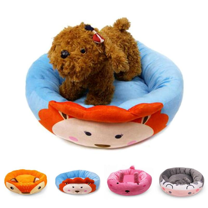 Cute Pet House Dog Cat Kennel Pet Round Bed Warm Soft Kitten Puppy Cave Washable House For Pet House For Dogs 2