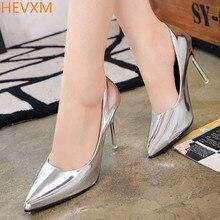 HEVXM Новый дамы моды указал темперамент прекрасно с сексуальными высоких каблуках женщина металлические свадебные туфли OL профессиональный workshoes насосы