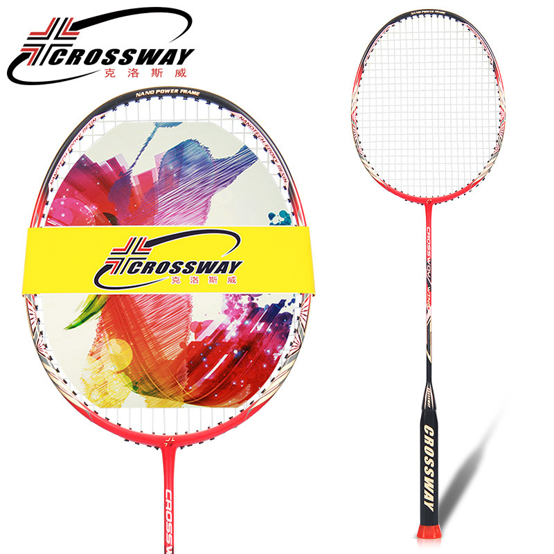 CROSSWAY Hot Selling Carbon Badminton Racket With String Overgrip Badminton Racket Made Of Carbon Fiber Duora Lcw