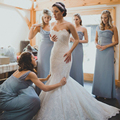 Elegant One Shoulder Gray Bridesmaid Dresses 2016 Long Tulle Simple Bridesmaid Dress Under 100 Pleat Cheap Bridesmaid Gowns B30