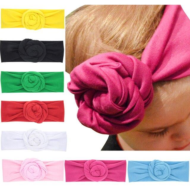 a58f0bdf05dc06 Bebe Mädchen Turban Stirnband Baumwolle Stieg knoten Kinder Headwrap  Haarschleife Haarband Kinder Elastische Headwear Zubehör