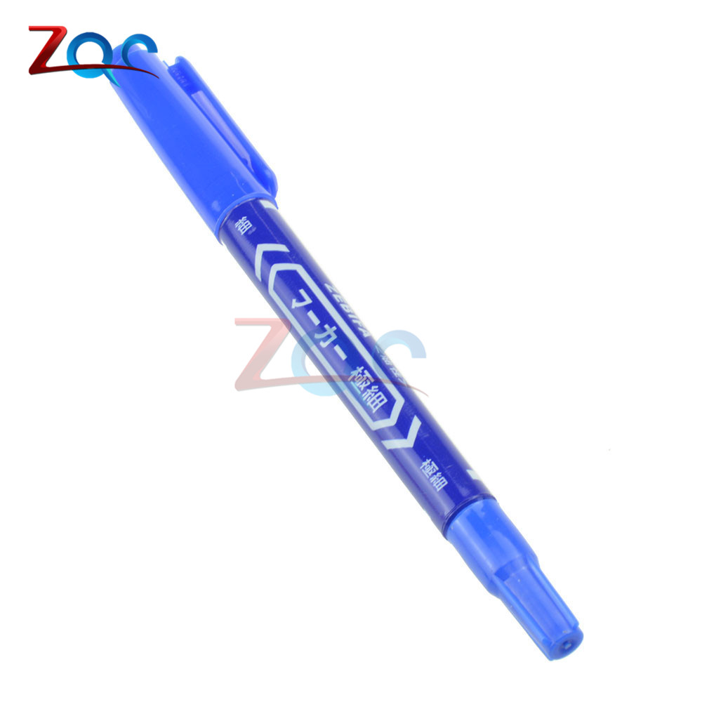 цена на 5PCS Blue CCL Anti-etching PCB Circuit Board Ink Marker Double Pen For DIY PCB Repair CCL Printed Circuit Diagram