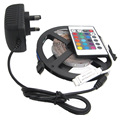 5M 3528 Non-Waterproof RGB LED Strip 300 leds 5m 3528 rgb led +24keys mini controller+12v2a Power adapter