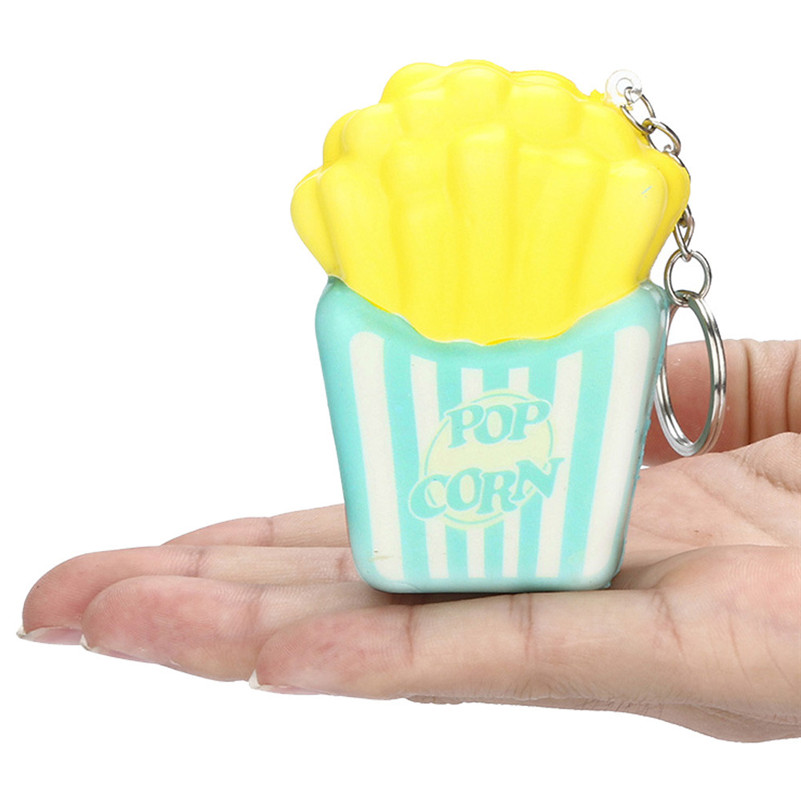 1pc  Squishies French Fries Slow Rising Cream Scented Keychain Stress Relief Toys Squash Anti-stress Cute Toy For Kid A1