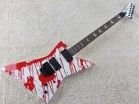 Free Shipping Top Quality EMG Pickup ESP LTD DJ 500 Blood Tears Electric Guitar Floyd Rose
