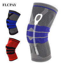 купить 1Pcs New Weaving Silicone Knee Pads Supports Brace Volleyball Basketball Patella Protectors Sports Safety Kneepads Knee Pads по цене 330.65 рублей