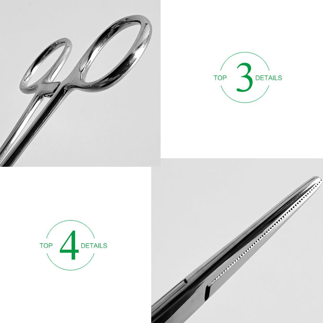 Купить с кэшбэком Stainless Steel Bent-nose/Straight  Fishing Locking Elbow Scissors Pliers Hemostatic Forceps Pet Hair Towel Clamp Pliers