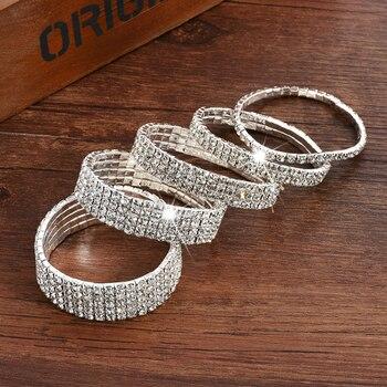 Multiple styles Fashion Crystal Stretch Shine Bracelets For Women couple Girlsfriend Bangles