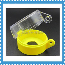100pcs  22mm mounting hole Yellow Plastic Emergency Stop Push Button Switch Protective Guard Cover 55x36.2mm