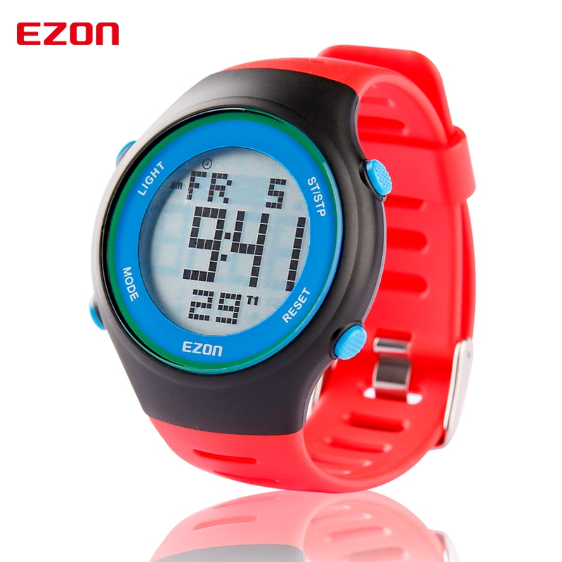 EZON Men Women Digital Dual Time Outdoor Sport Wristwatch Fashion Casual Digital Watches 30M Waterproof L008A13