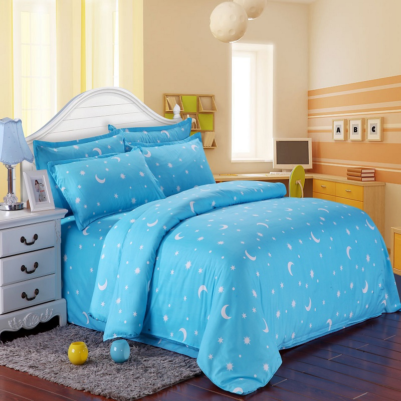 Twin  Queen Moon star 3/4Pcs Bedding Set Bedclothes Sets Duvet Cover Quilt Cover Pillowcase Twin  Queen Moon star 3/4Pcs Bedding Set Bedclothes Sets Duvet Cover Quilt Cover Pillowcase