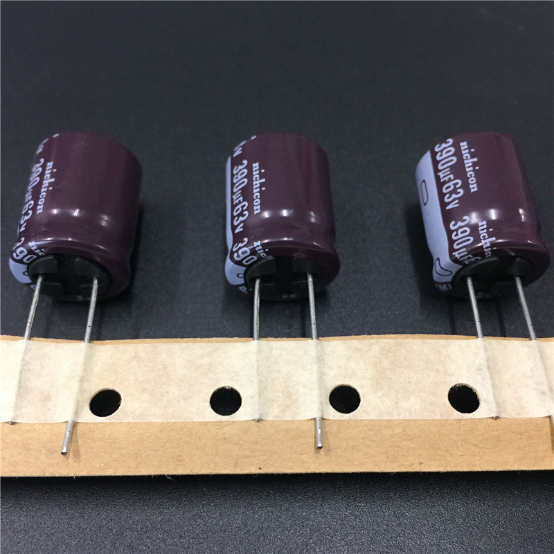 20pcs 390uF 63V NICHICON PJ Series 16x20mm Low Impedance Long Life 63V390uF Aluminum Electrolytic Capacitor
