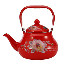 1.5L 2.0 L 2.5 L Red Flower Whistle Water Pot Coffee Enamel Pot for Kitchen Tool Whitle Pot fabretti 77006 red flower l