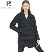 BEROBELLO High Quality Women Winter Jacket Medium Long Big Turn down Collar Duck down Coat Warm Outwear Female 2017 Hot Sale(China)