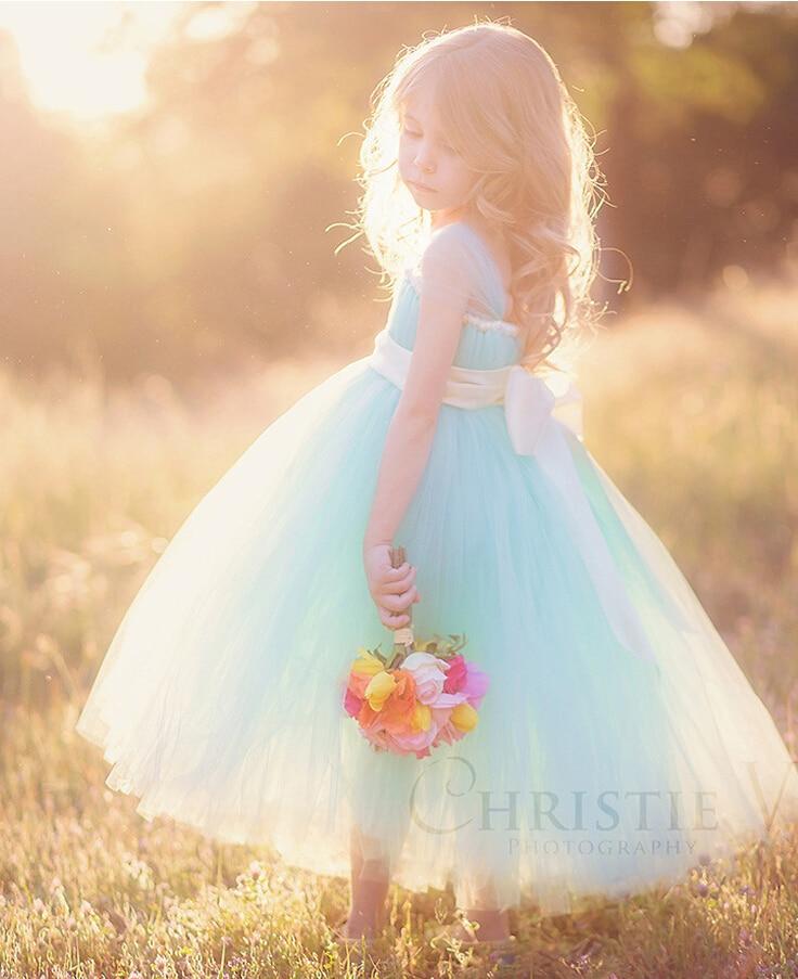 kids wedding dress long navy 2017 plus size toddler girls princess blue white pink flower dresses