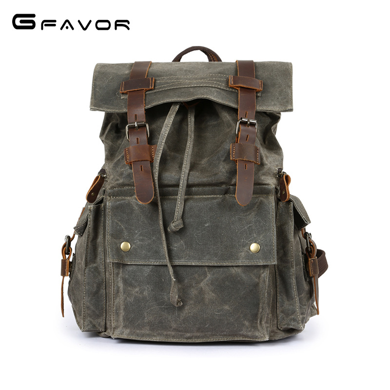 Vintage Canvas Backpack Men Large Capacity waterproof Travel Shoulder Bag 2018 Fashion Male Luxury Brand Men Laptop Bag Luggage augur 2018 brand men backpack waterproof 15inch laptop back teenage college dayback larger capacity travel bag pack for male