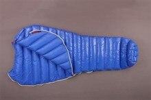 Aegismax Alargado Ala Azul de La Momia Saco de dormir Ultraligero M2 Ganso Blanco Abajo Senderismo Acampar Al Aire Libre Saco de dormir 200 cm * 86 cm