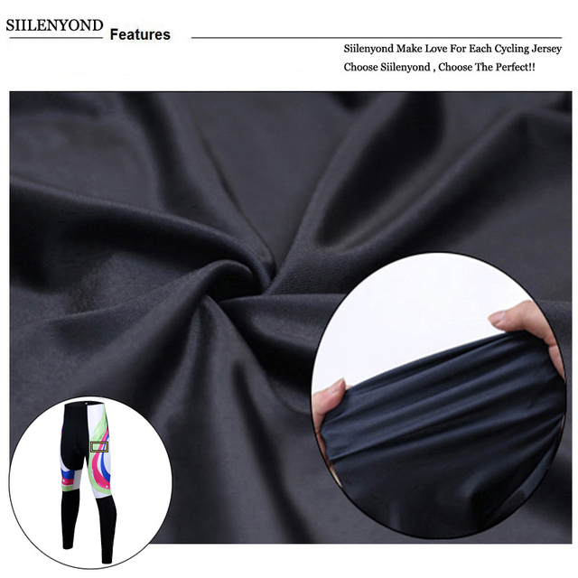 Siilenyond 2019 Women Winter 3D Gel Padded Cycling Pants Shockproof Mountain Bike Cycling Tight Racing Bicycle Cycling Trousers 4