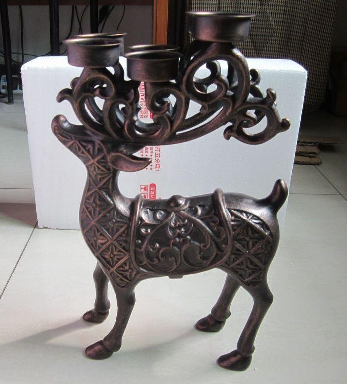 Candelabro Deer Elk con 6 candelabros Candelabro Soporte de velas - Decoración del hogar - foto 4