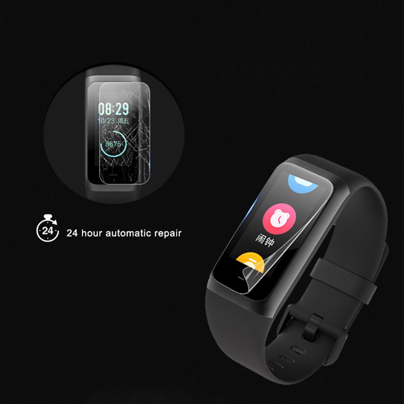 2 Pcs TPU Screen Protector for <font><b>Huami</b></font> <font><b>Amazfit</b></font> <font><b>Cor</b></font> 2 <font><b>MiDong</b></font> Fitness Smart Bracelet JLRL88 image