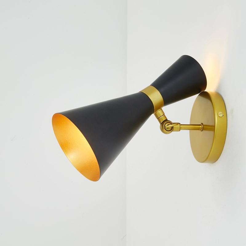 Designer Lampe Moderne Wand Lichter Schlafzimmer Küche Treppen Wohnzimmer  Dekor Hause Beleuchtung Schwarz Weiß Eisen Leuchte E27 G4 110  220 V