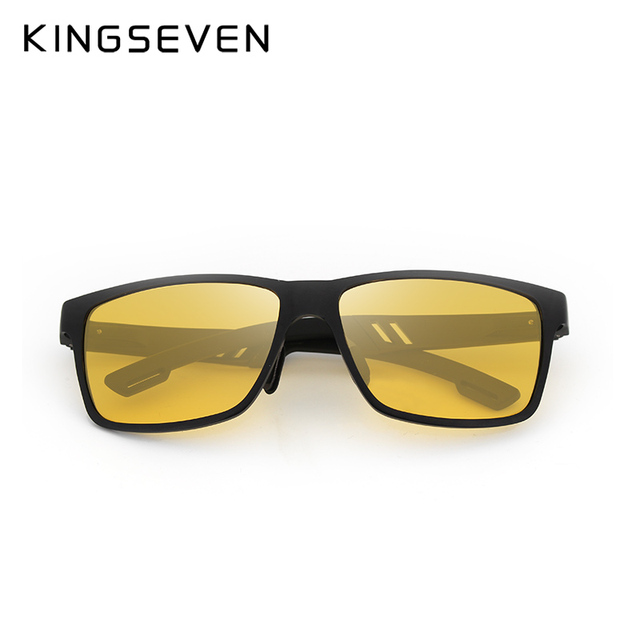 KINGSEVEN Aluminum Polarized Night vision Sunglasses Men Square Sun Glasses Driving Sunglasses Goggle Eyewear oculos de sol  2