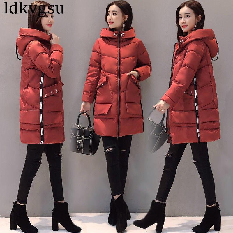 À Parkas 2019 Filles Vestes Longues Coton Manteaux Casual red Femmes A1186 Automne Capuchon Manteau Manches Black Mode armygreen Hiver n0Nwvm8