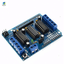 10pcs L293D Motor Drive Shield dual for arduino Duemilanove, Motor drive expansion board(China)