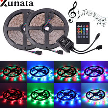 DC12V 10m Led Strip 60leds/m 2835 SMD LED Light RGB Waterproof +20key IR Music Controller+EU/AU/UK/US Plug