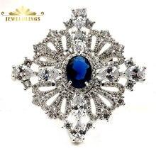 Королевский Винтаж Завитая лента овальной огранки синий камень