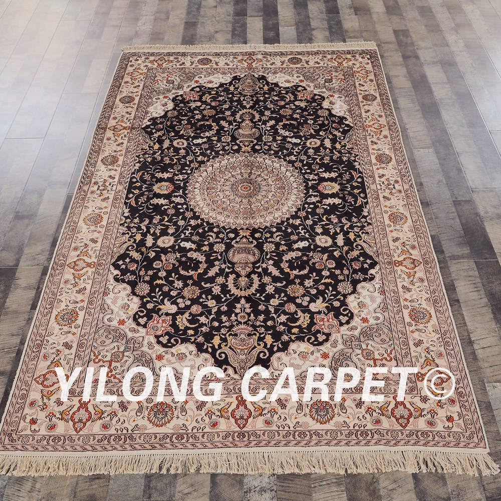 YILONG 5'x8' Turkish Silk Carpet Design Henan Handmade