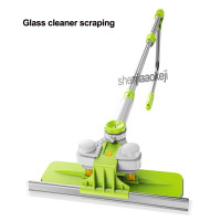 Home Glassware artifact double sided window cleaner telescopic rod wash high rise high rise cleaner scraper window cleaning tool