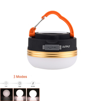 200LM 4 Mode Portable Hand Lantern Outdoor Waterproof Magnet Camping Tent Lamp Lights USB Charging 5200