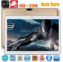 10 pulgadas Octa Core Tablet 3G Teléfono 1280*800 4G RAM 32G ROM Dual Tarjetas SIM Android 5.1 GPS IPS 4G LTE Tablet PC de 10.1 pulgadas + regalos