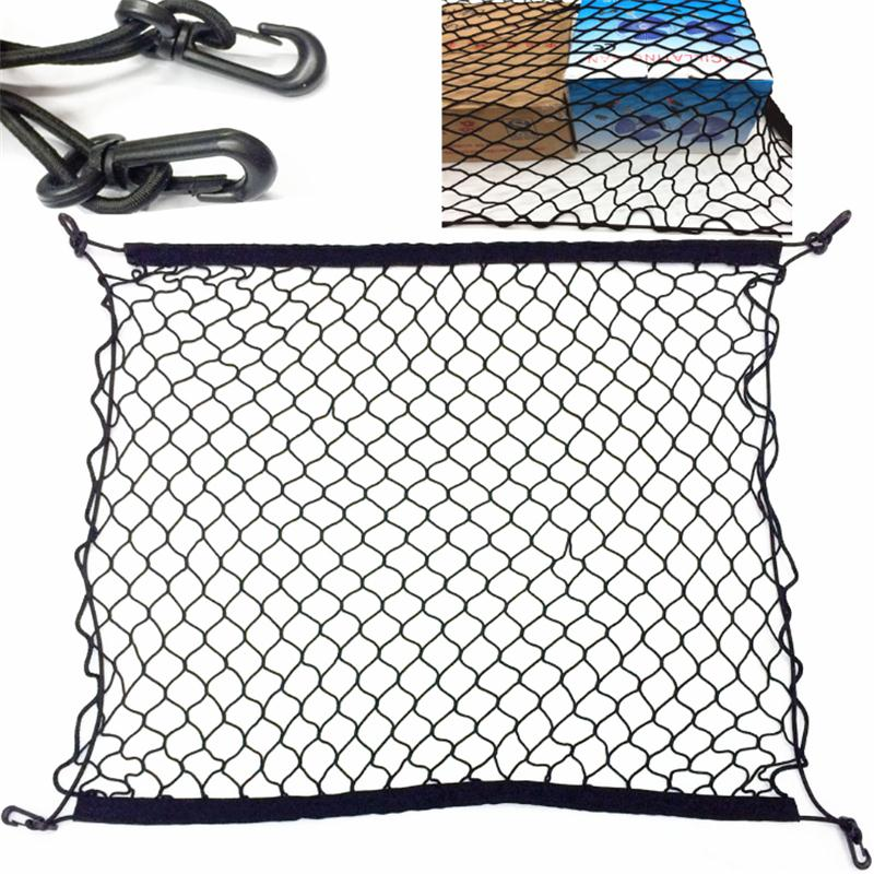 4 HooK Car Trunk Cargo Mesh Net Luggage For Mercedes Benz W211 W221 W220 W163 W164 W203 C E SLK GLK CLS M GL accessories car seat cover automobiles accessories for benz mercedes c180 c200 gl x164 ml w164 ml320 w163 w110 w114 w115 w124 t124