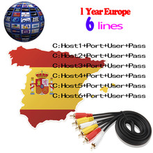 European DE IT ES channels DVB S S2 Satellite Cccam lines 1 Year 6 lines Validity