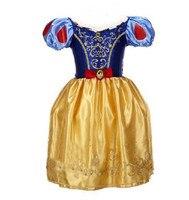 2015 New Girls Cinderella Dresses Children Snow White Princess Dresses Kids Party Costume Clothes