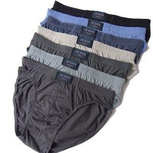 Image 1 - 100% Cotton Briefs Mens Comfortable Underpants Man Underwear M/L/XL/2XL/3XL/4XL/5XL 5pcs/lot Free shipping & Drop shipping