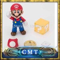 Cmt datong Супер Марио СВЧ фигурку игрушки SH Figuarts Марио модель с Интимные аксессуары комплект фигурка героя