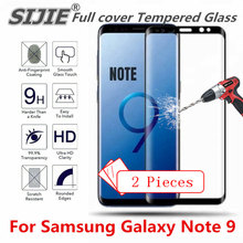 2 pcs Full cover Tempered Glass For Samsung Galaxy Note 9 Screen protective 6D black 6.4 inch case frame toughened display protective glossy screen guards for samsung galaxy note 2 n7100 10 pcs