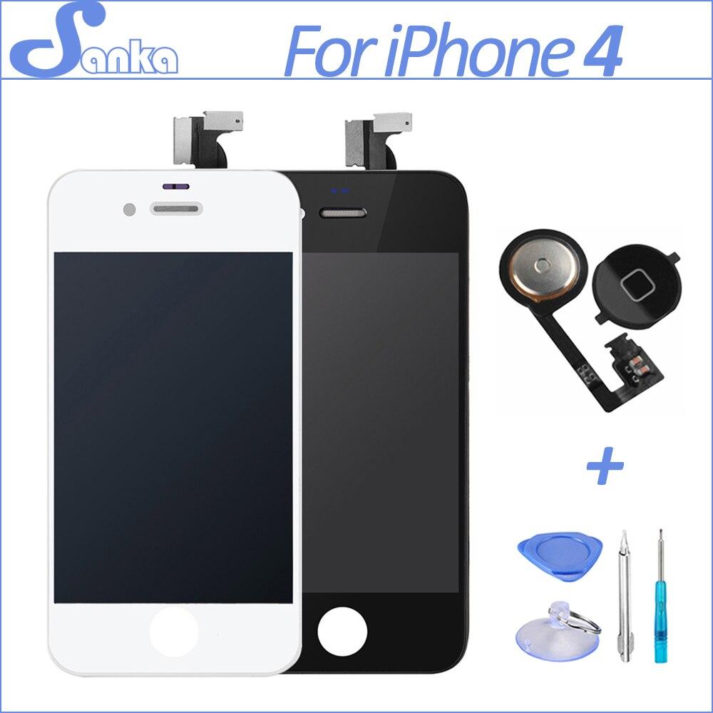 Sanka para iphone 4 4g a1332 asamblea ecran lcd pantalla táctil digitalizador de