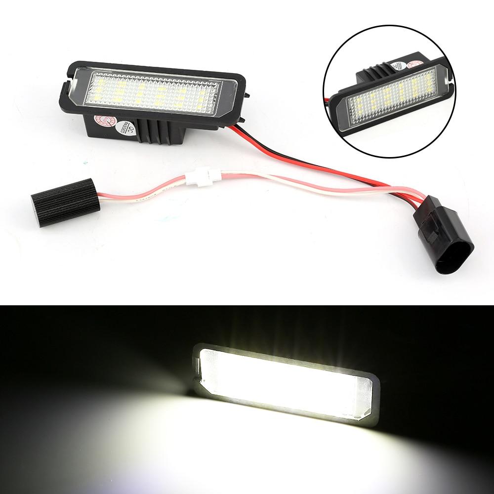 2Pcs 12V LED Number License Plate Light Lamps for VW MK5 GTI MK6 Golf 4 5 Glof 6 Car License Plate Lights Exterior Accessories