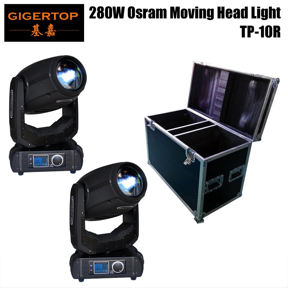 2IN1 Flightcase Pack 280 W faisceau SPOT déplacer tête lumière polychrome Led affichage rouleau bouton électrique Zoom/Focus 10R haute puissance