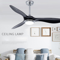 52 inch Flush Mount Fan with LED Light Kits Creative ceiling fan lamp 220V Free shipping
