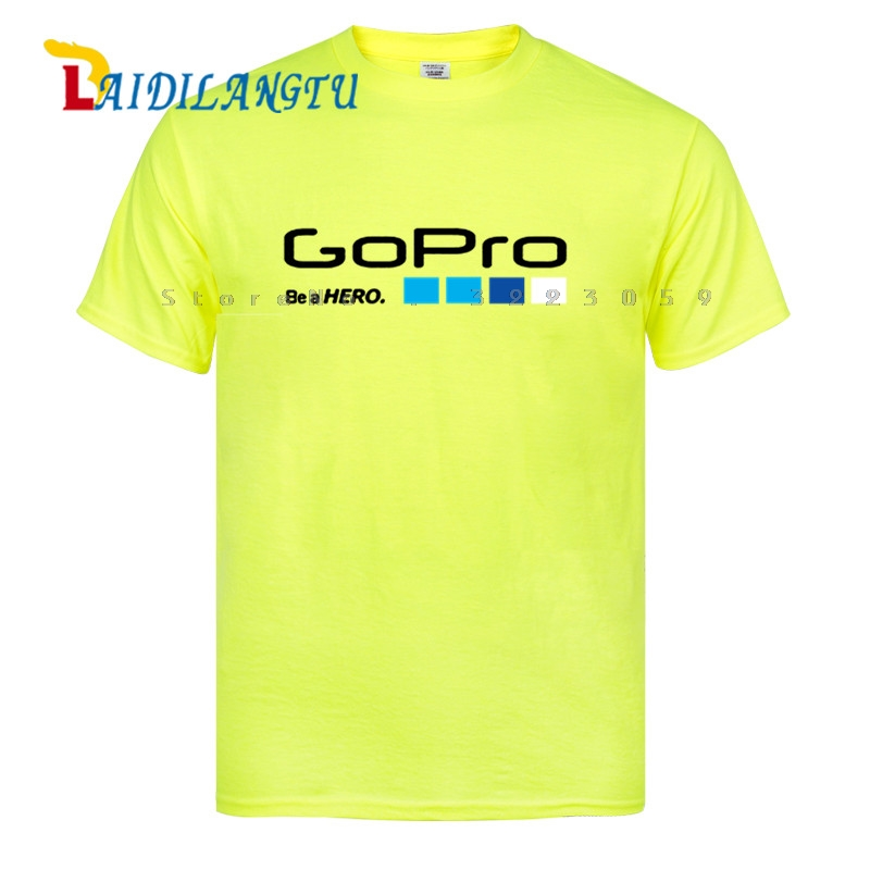Mens   T     Shirt   Go Pro GoPro   T  -  Shirt   Helmet Hero3 HD Camera Video   T     Shirts   Cotton Tees Tops
